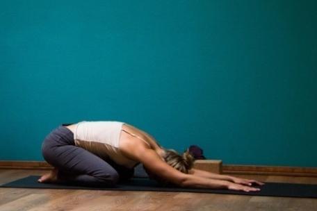 Balasana o Postura del Niño