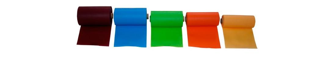 El color de las bandas elasticas idefentifica la intensidad
