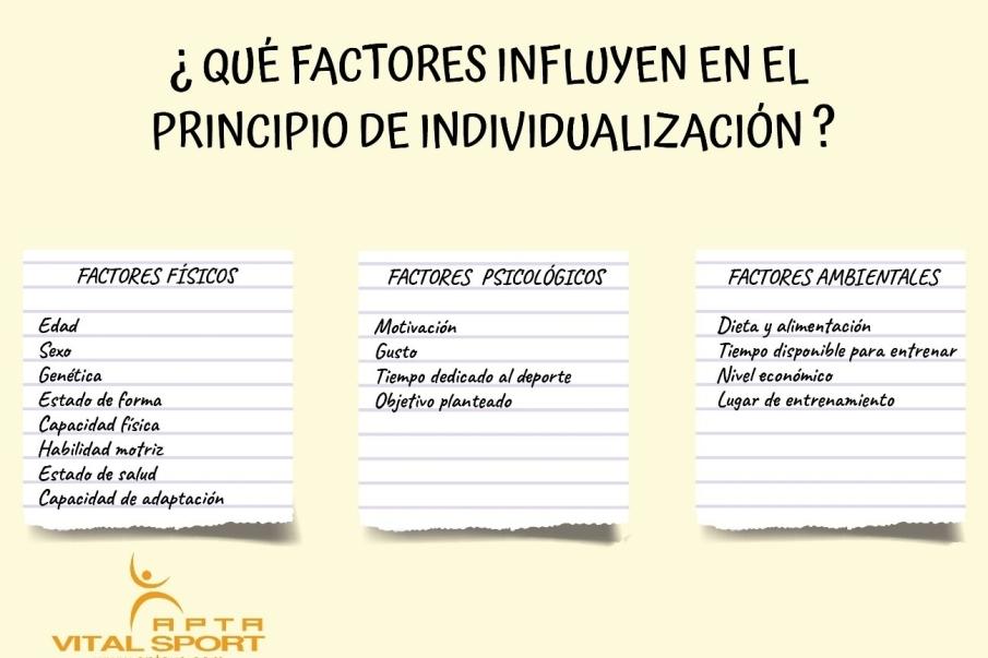 que factores influyen en el principio de individualizacion